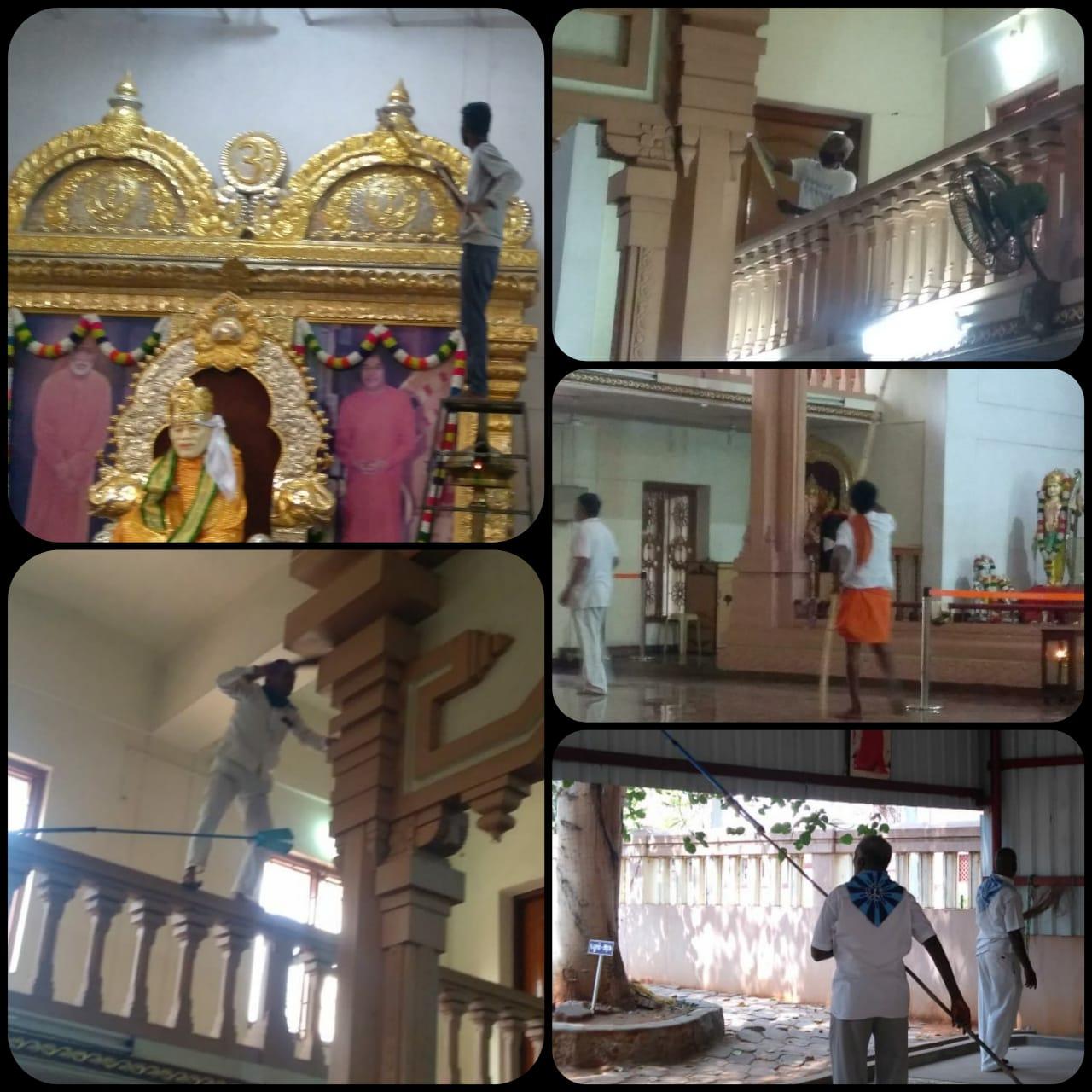 Shramdan at Sri Sathya Sai Anand Nilayam, Madurai